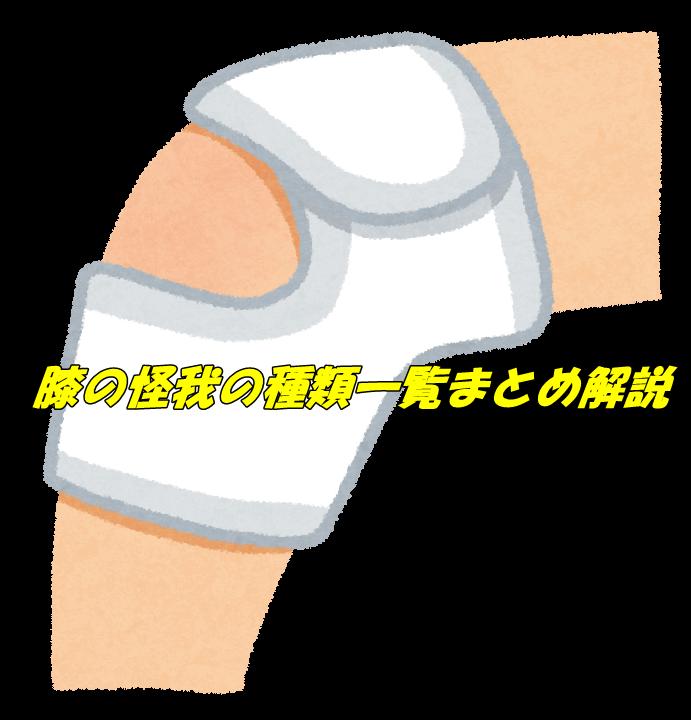 膝の怪我の種類解説