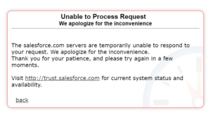 unable to process request